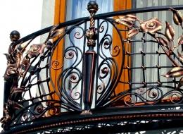 Кованые французские балконы Воронеж №52
