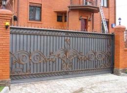 Кованые откатные ворота Воронеж №29