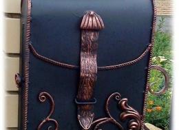 Кованые таблички, кованые почтовые ящики №76