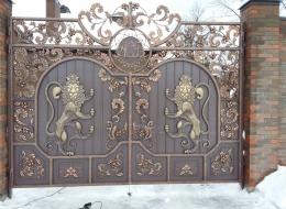 Фото кованые ворота Воронеж