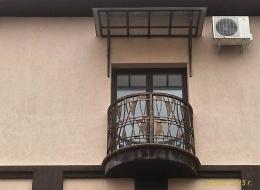 Кованые французские балконы Воронеж №81