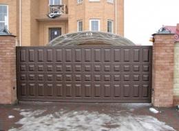 Кованые откатные ворота Воронеж №34