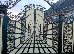 Кованые ворота Воронеж №28