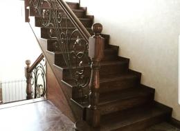 Кованые лестничные перила Воронеж №181