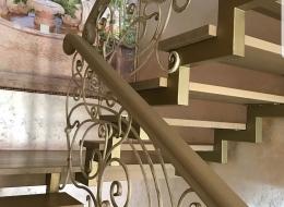 Кованые лестничные перила Воронеж №201