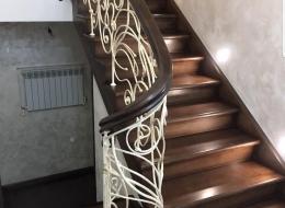 Кованые лестничные перила Воронеж №204