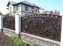 Кованые ворота Воронеж №128