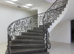 Кованые лестничные перила Воронеж №257