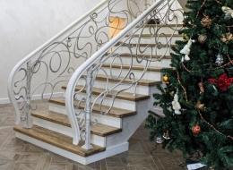 Кованые лестничные перила Воронеж №259
