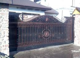 Кованые откатные ворота Воронеж №37