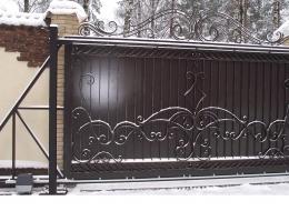 Кованые откатные ворота Воронеж №36