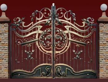 Кованые ворота, калитки, заборы