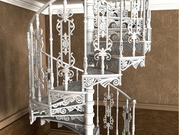 Чугунные лестницы, перила