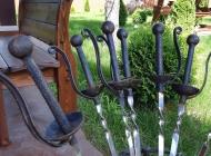 Кованые каминные наборы, дровницы, решетки №49
