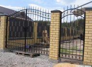 Кованые распашные ворота Воронеж №5