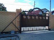 Кованые откатные ворота Воронеж №9