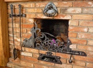 Кованые каминные наборы, дровницы, решетки №26