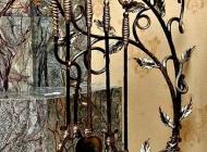 Кованые каминные наборы, дровницы, решетки №50