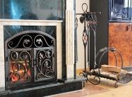 Кованые каминные наборы, дровницы, решетки №55