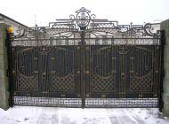 Кованые распашные ворота Воронеж №27