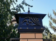 Фото кованые колпаки на забор Воронеж