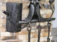 Кованые каминные наборы, дровницы, решетки №63