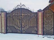 Кованые распашные ворота Воронеж №39